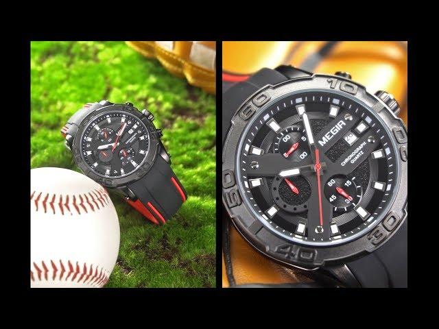 9f6b78e51fa MEGIR MN2055 Men Quartz Watch Calendar Chronograph