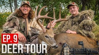 BEDDED BUCK at 20 YARDS! - PUBLIC LAND SPOT AND STALK Bowhunt | DEER TOUR E9