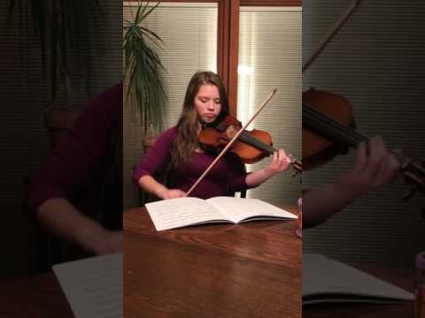 Her first time playing Lindsey Stirling's version of Hallelujah.