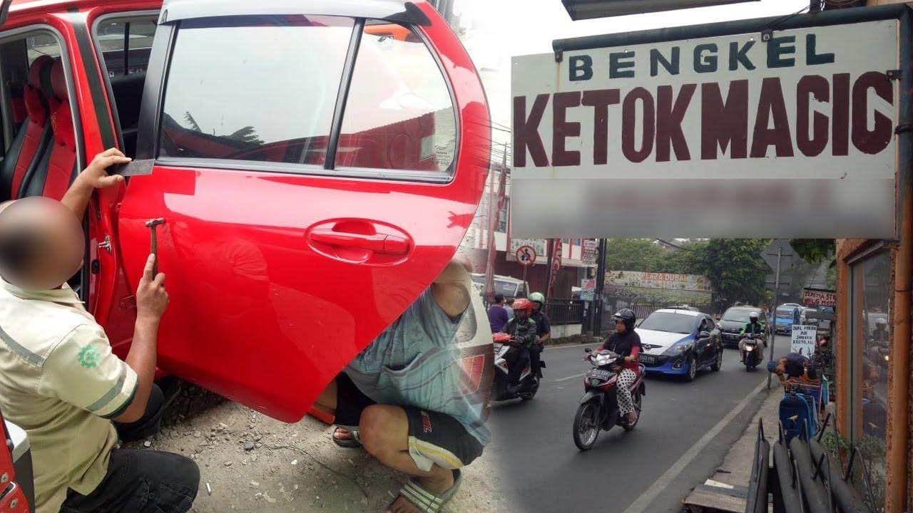 Mobil Penyok Pulih Seketika Berkat Ketok Magic Dibantu Jin Kah Youtube