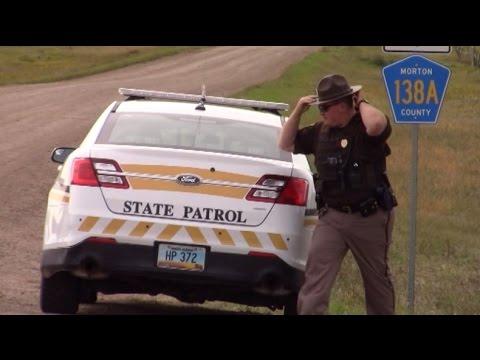 9/11 National Guard/Highway Patrol ROAD BLOCK Standing Rock, ND