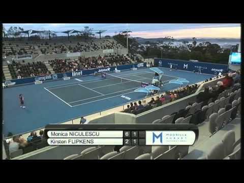 Monica Niculescu vs Kirsten Flipkens, Moorilla Hobart International 2013
