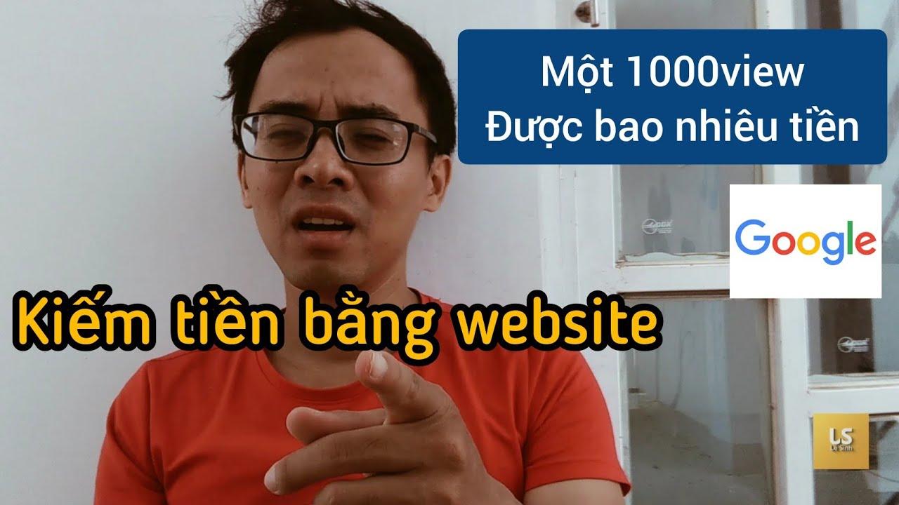 Kiếm tiền online bằng website nhờ tiền quảng cáo Google
