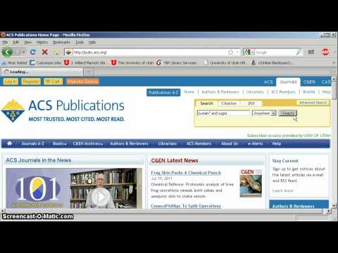 ACS Journals Database Tutorial