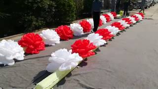 Wedding Stage Decorative Inflatable Flower chain ,Lighting Inflatable Decorations