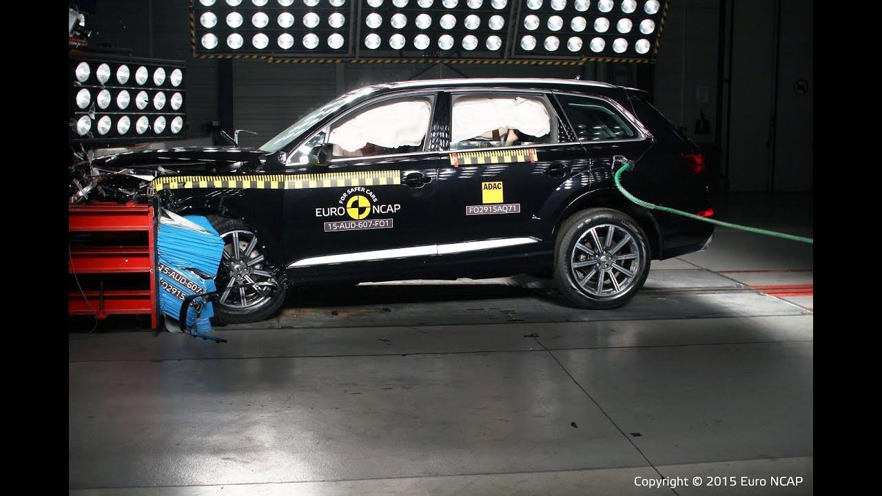 Audi Q7 Crash Test Euro Ncap Youtube