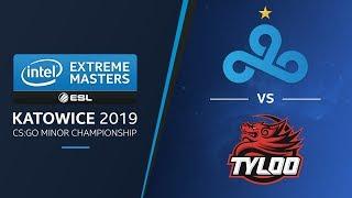 CS:GO - Cloud9 vs. Tyloo [Overpass] Swiss R2 - Challengers Stage - IEM Katowice 2019