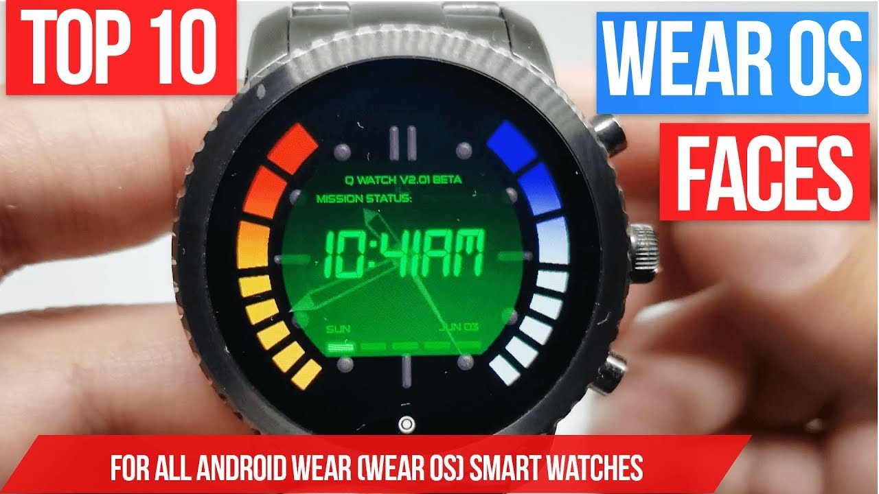 Top 10 Wear Os Watch Faces 2018 Best Android Wear Watchfaces Youtube