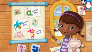 Doc McStuffins Color and Play Disney Junior Animated Coloring Book Paint 3D Color Games PART 1