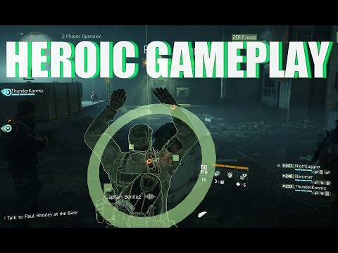 The Division | HEROIC GAMEPLAY Two Phase Underground Operation | 1.3 Update