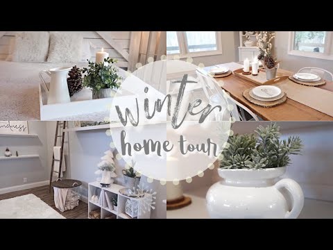 WINTER HOME TOUR 2019 | COZY + RUSTIC FARMHOUSE DECOR