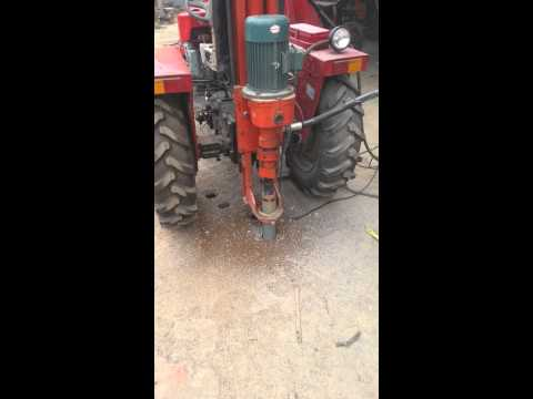 hydraulic water well drilling machine tractor loaded type