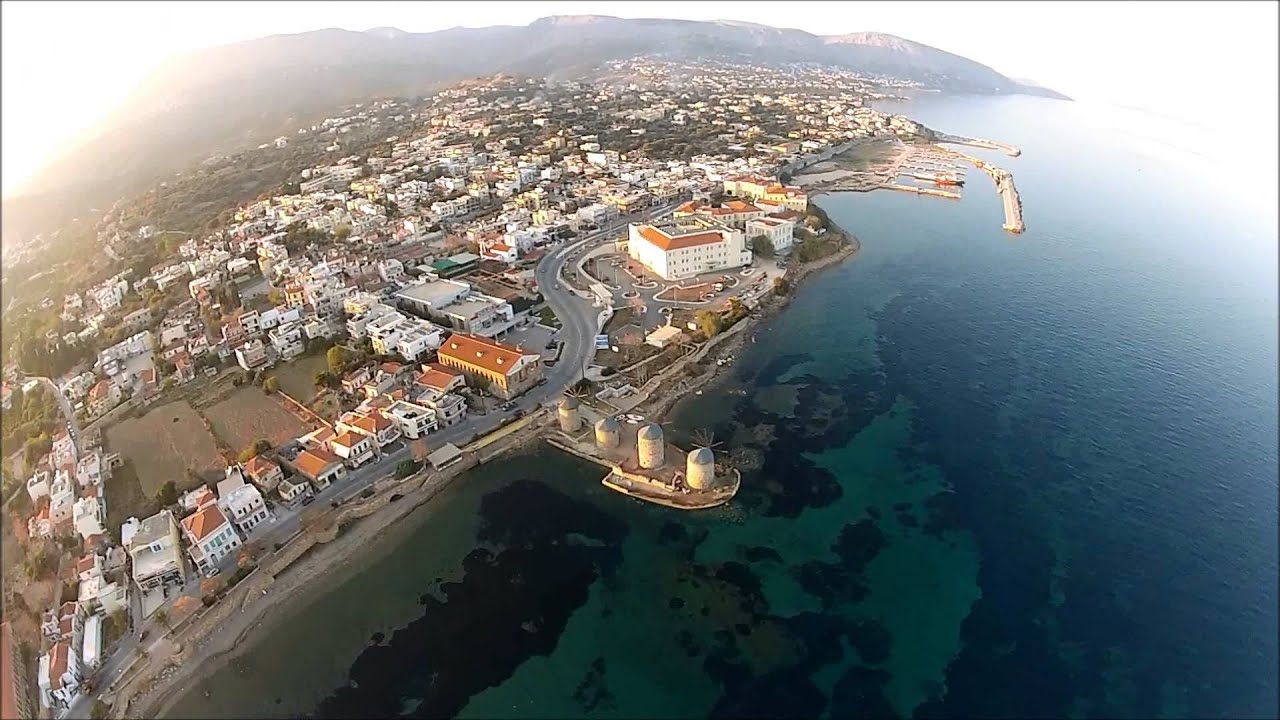 Black Hole Live Wallpaper Aerial Video Of Chios Town Amp Vrontados Youtube