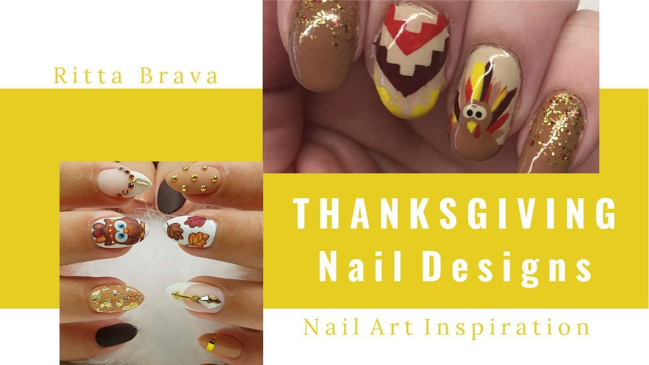 Thanksgiving Nails Thanksgiving Turkey Nail Art Youtube