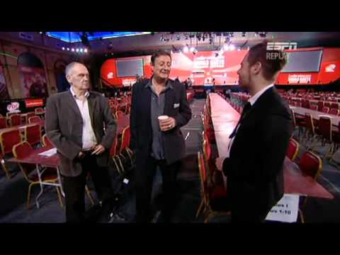 Sid Waddell and Eric Bristow interviewed by Richard Lenton on ESPN