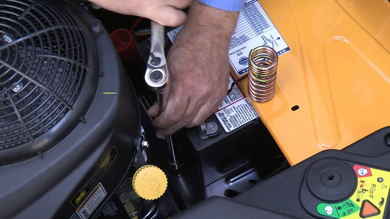 how to change the battery on rzt zero turn riding mowers [ 1280 x 720 Pixel ]