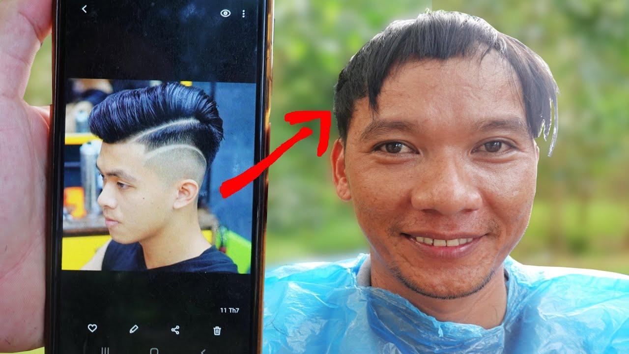 Trổ Tài Hớt Tóc Style 2020 Thanh Niên Nhận Cái Kết Đắng . Funny Video Hair Cutting