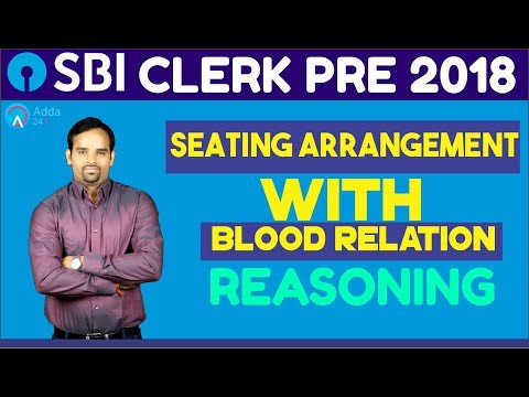 SBI CLERK PRE | Seating Arrangement with Blood Relation | Re