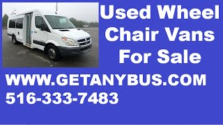 Used Wheelchair Vans 2008 Dodge Sprinter 3500 Dual Rear Wheel
