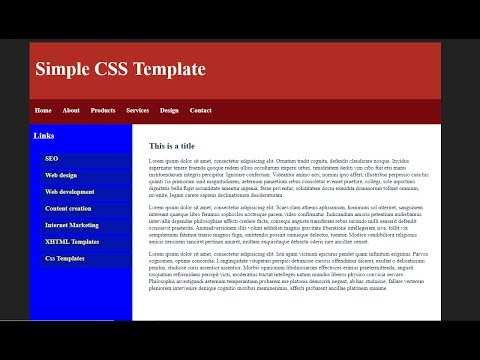 Basic Website Template With Css Speed Coding 3