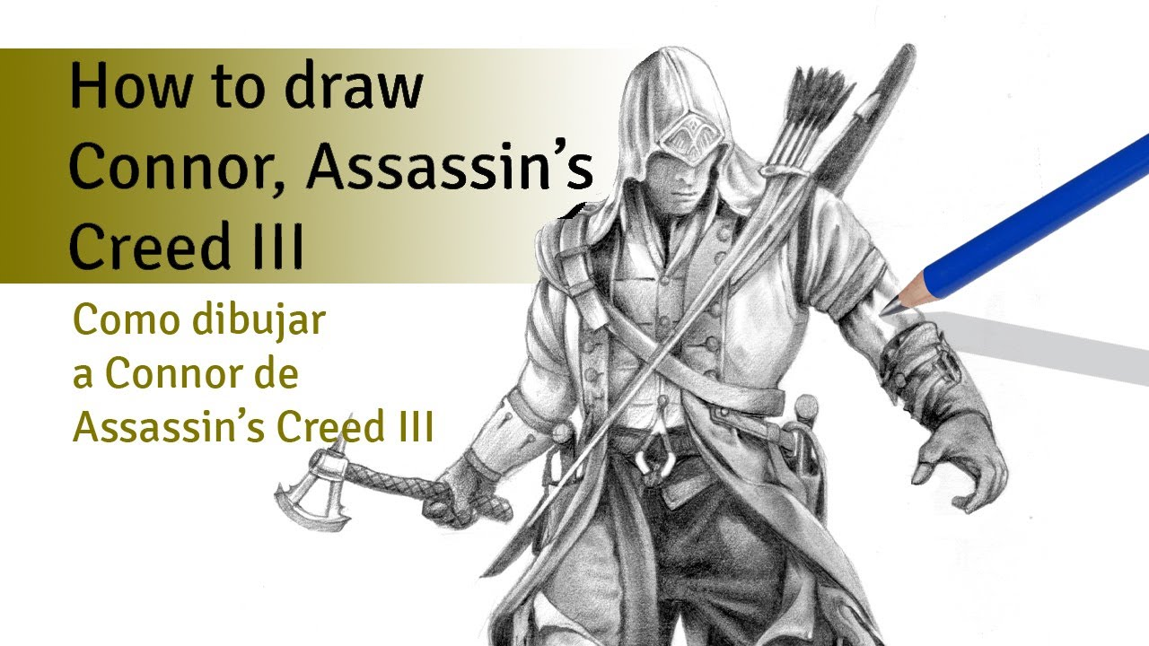 Assassins creed 3 connor drawing