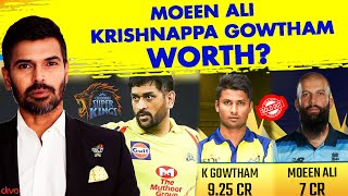 Are Moeen Ali, Krishnappa Gowtham WORTH The Price? | CSK Auction | IPL Auction 2021