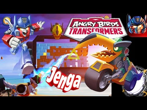 Angry Birds Transformers JENGA GRIMLOCK Unlocked!