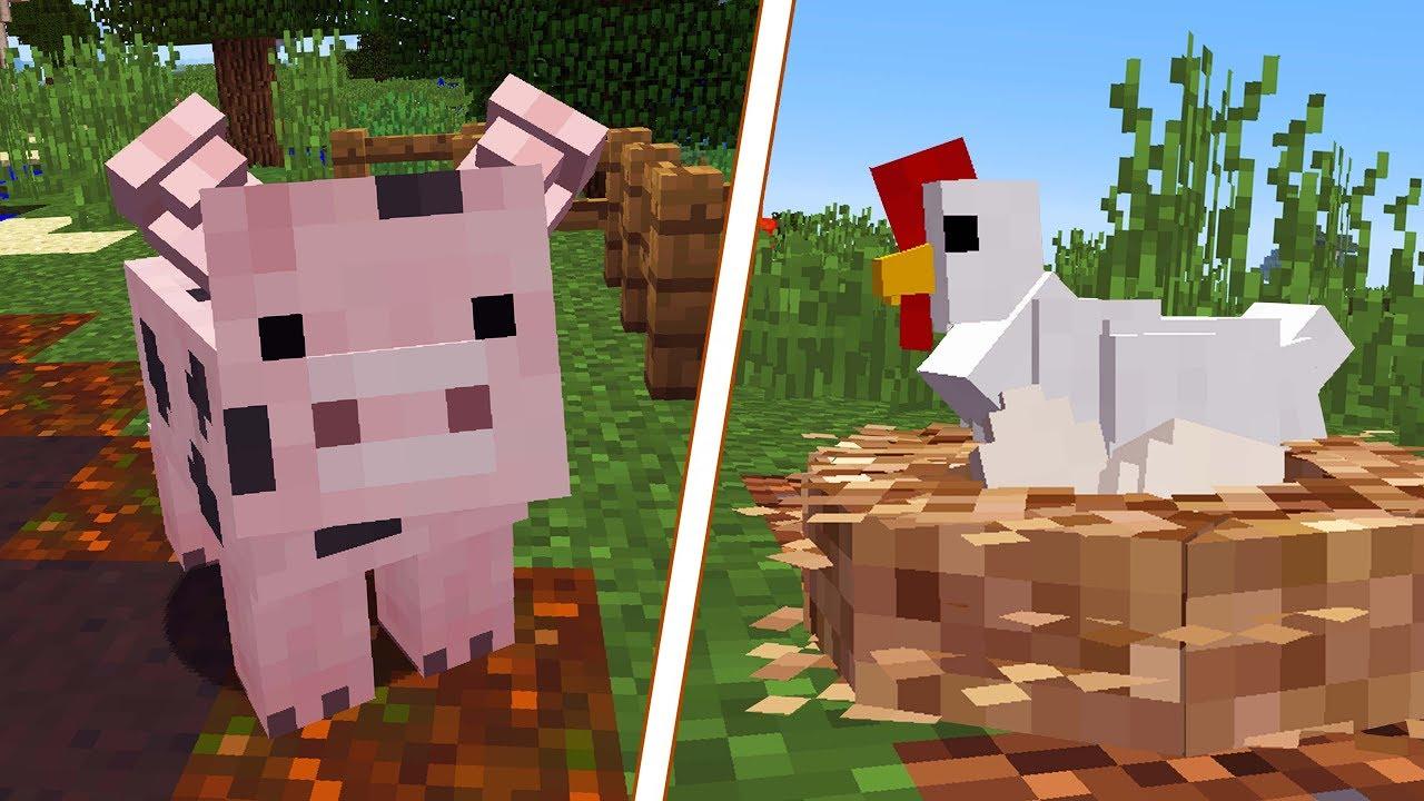 minecraft animais realistas vida na fazenda ep 6 c4ipiras