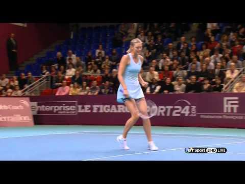 Maria Sharapova & Anastasia Pavlyuchenkova Legs Upskirts & Pokies WTA HD 01 02 14