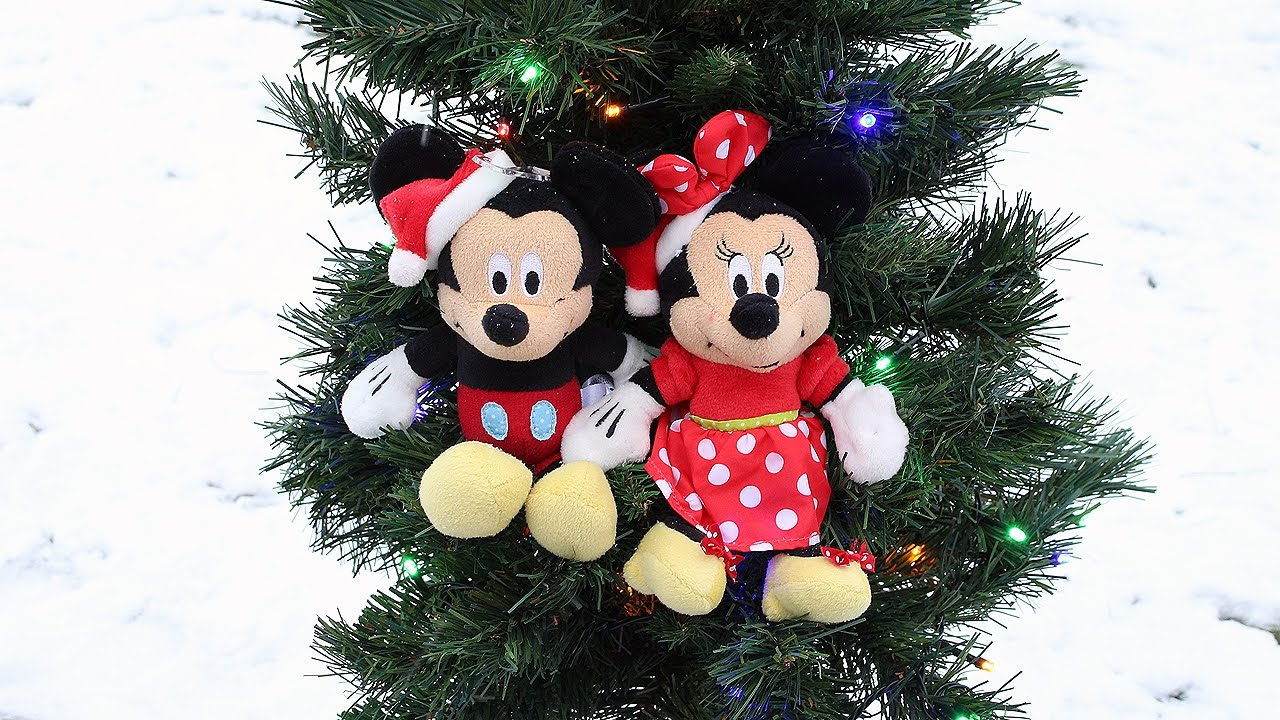 christmas tree fun with mickey mouse and minnie mouse christmas car tree kids christmas youtube