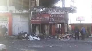 Последствия пожара торгового центра на Героев Труда. Харьков