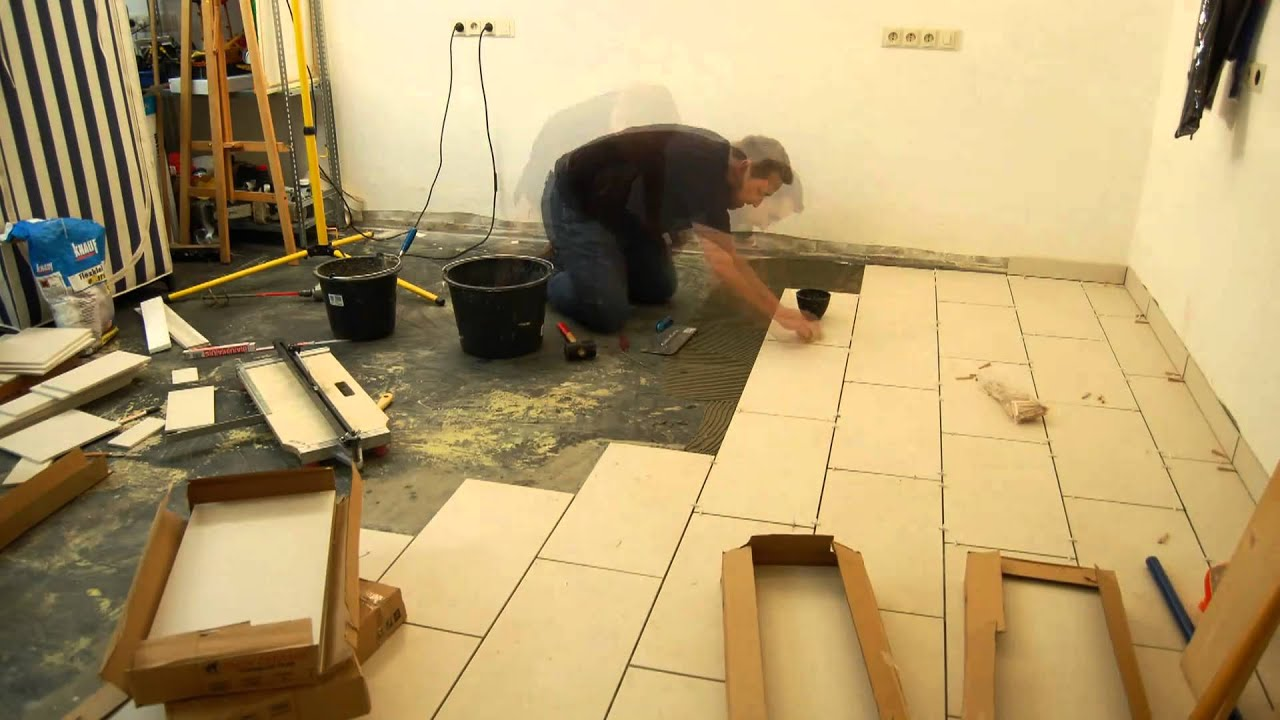 fliesen verlegen im zeitraffer - how to tiling time lapse - youtube