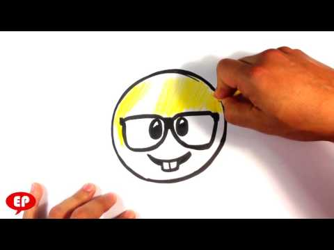 How to Draw Nerd Emoji - Cute Drawings - Easy Pictures to Draw