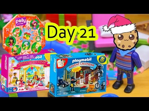 Polly Pocket, Playmobil Holiday Christmas Advent Calendar Day 21 Toy Surprise Opening Video