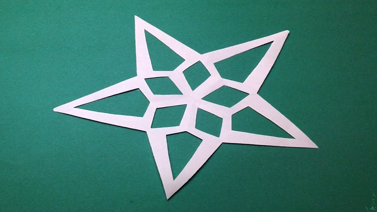 How to Cutting paper star design ? KIrigami star-Easy cutting Star ...