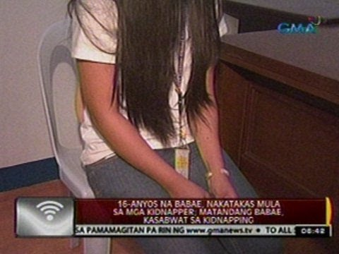 24 Oras: 16-anyos na babae, nakatakas mula sa mga kidnapper; matandang babae kasabwat