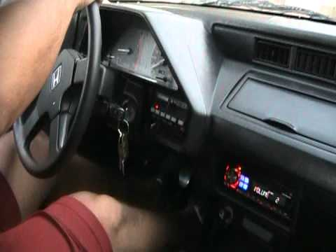 1987 Honda Civic CRX-HF - YouTube