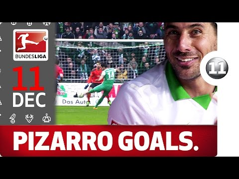 Claudio Pizarro - All Goals Since his Return to Bremen - Bundesliga 2016 Advent Calendar 11