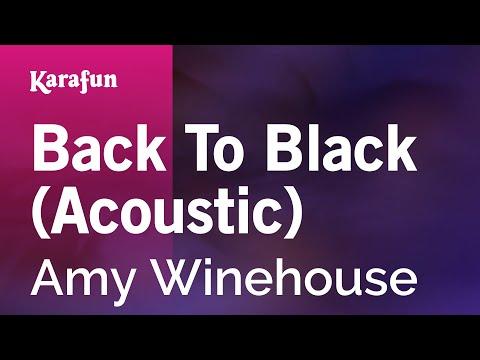 Karaoke Back To Black (Acoustic) - Amy Winehouse *