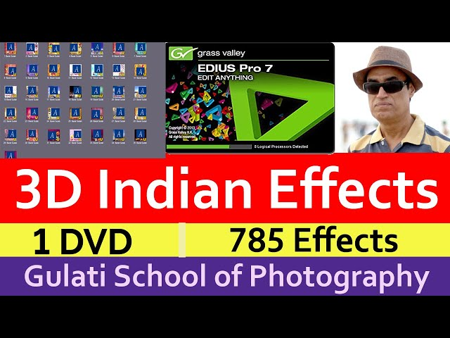 01 3D Indian Wedding Effects For Edius 6, 7, 8 ,9 | Drag & Drop Effects | FX Style ( 764 Effects )