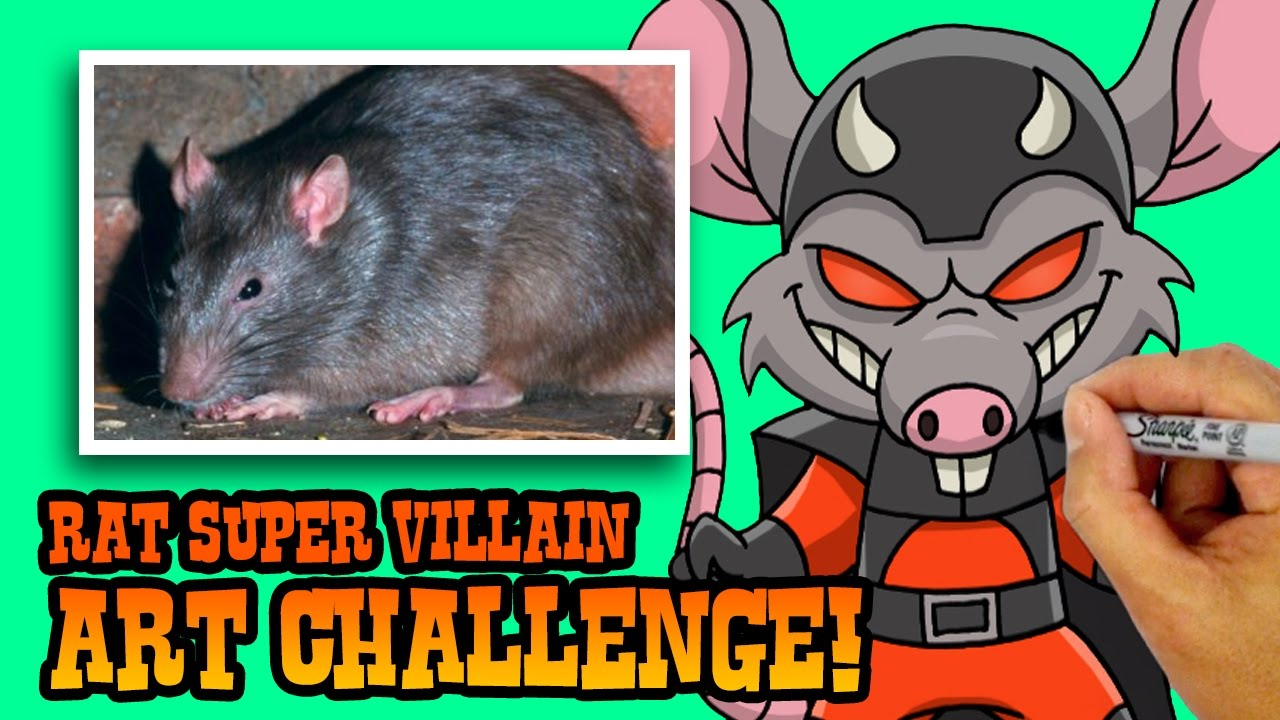 How to Draw a Rat Supervillain | ART CHALLENGE