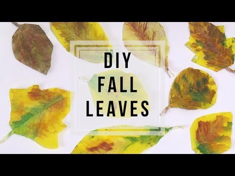 Autumn Leaves DIY 🍁 | How to Make Paper Leaves | Fall Decor Ideas | Fall Crafts by Fluffy Hedgehog