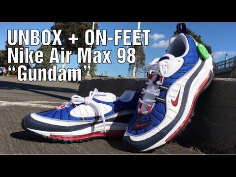 """the latest 4689c abbc3 UNBOX + ON-FEET   Nike Air Max 98 """"Gundam"""""""