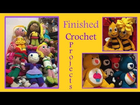 Finished crochet amigurumi projects