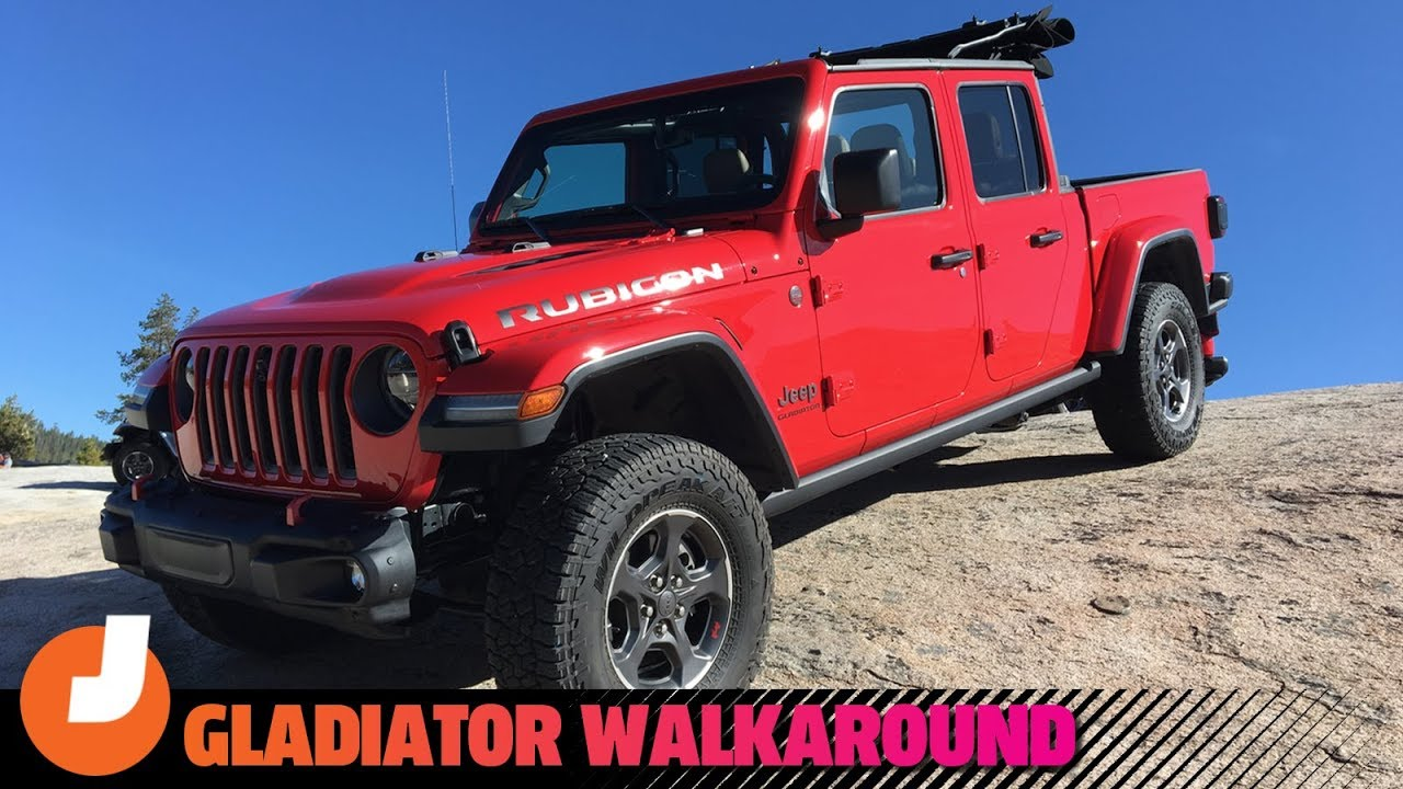 Here Are All The Good Details And Easter Eggs On The 2020 Jeep Gladiator Youtube