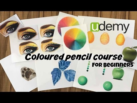 My udemy coloured pencil course for beginners is finally here