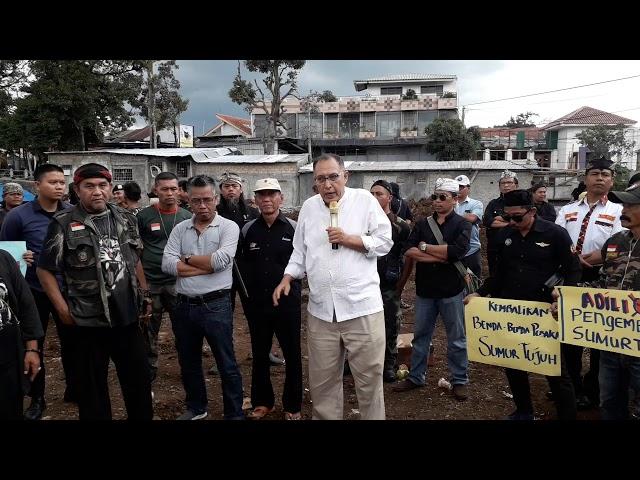 """Warga Kota Bogor Tuntut Pengrusakan Cagar Budaya Nasional """"Situs Sumur Tujuh"""""""