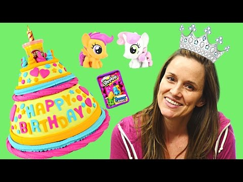 Huge BIRTHDAY Play Doh Cake Surprise Toys Frozen MyLittlePon