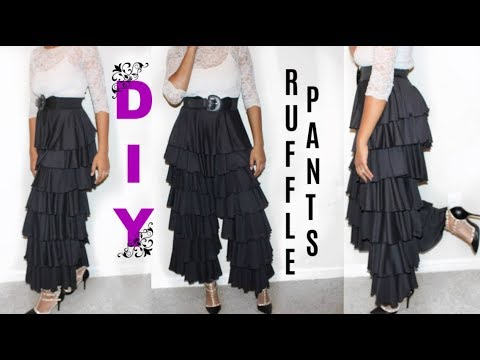 WATCH ME WORK: DIY Ruffle Pants