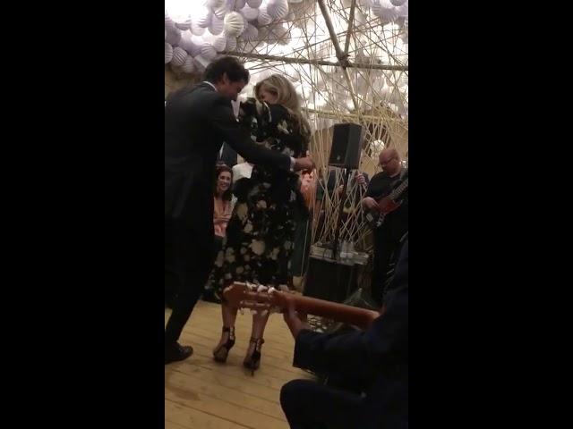 El baila de la reina Máxima de Holanda en la Feria de Abril